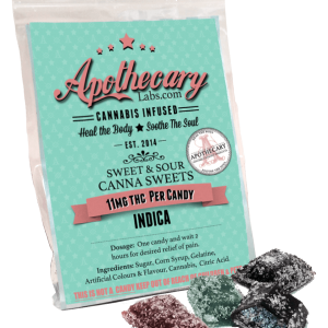 One package of THC candies.