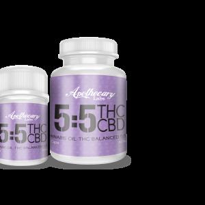 5:5mg CBD/THC Coconut Oil Caps