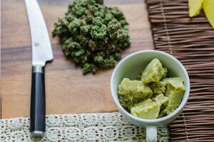 Cannabis cooking.