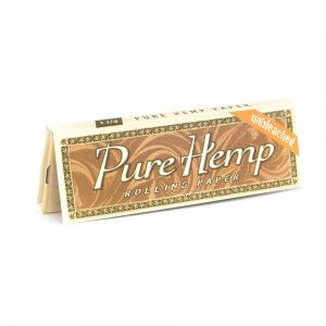 "Pure Hemp unbleached rolling papers. 1 1/4""."