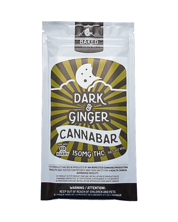 Dark & Ginger Cannabar written on package