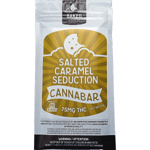 Salted Caramel Seduction written on white and gold package