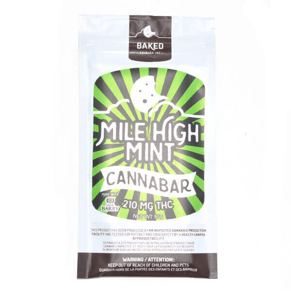 Mile High Mint Cannabar from Baked Edibles.
