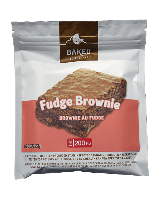 Package with a picture of a Fudge Brownie