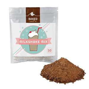 Milkshake mix by Baked Edibles contains 50mg THC