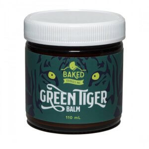 Green Tiger Balm by Baked Edibles. Cannabis infused topical.