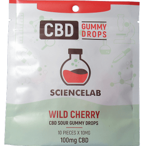 Wild Cherry or blueberry flavoured CBD Gummy Drops