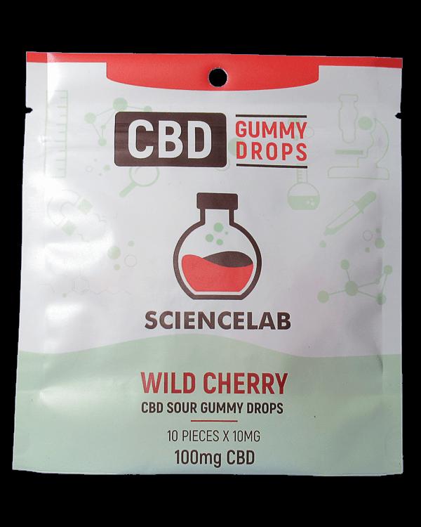Wild Cherry or blueberry flavoured CBD Gummy Drops