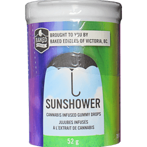 Sunshower written on container