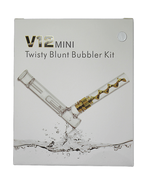the V12 Mini Twisty Blunt Bubbler Kit is just the revolutionary, compact pipe you've been waiting for