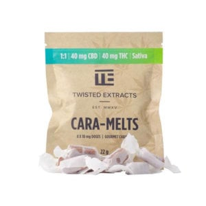 40mg THC and 40mg CBD Cara-Melts by Twisted Extracts
