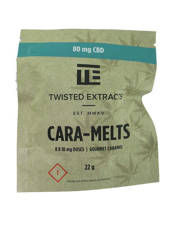 Cara-Melts by Twisted Extracts contain 80mg CBD