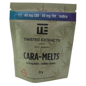 Cara-Melts by Twisted Extracts contain 40mg CBD + 40mg THC