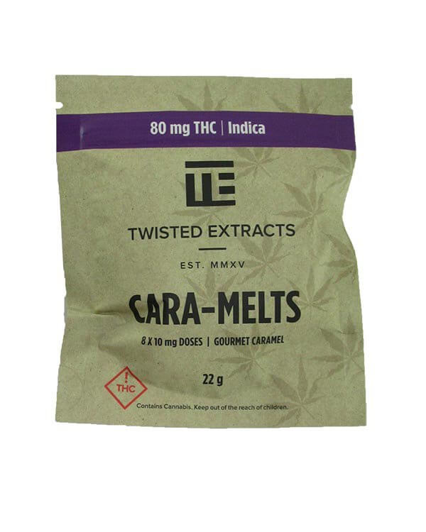 Cara-Melts by Twisted Extracts contain 80mg THC