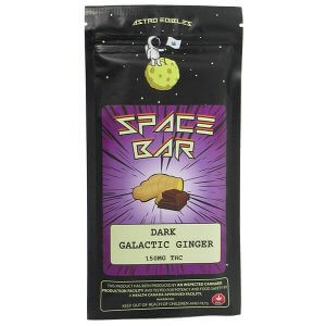 Dark Galactic Ginger bar by Astro edibles contains 150mg THC