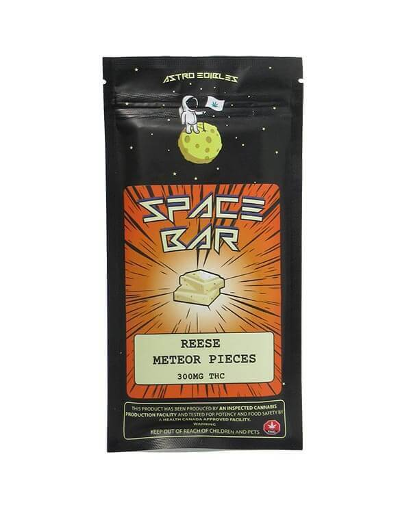 Reese Meteor Pieces by Astro Edibles contains 300mg THC