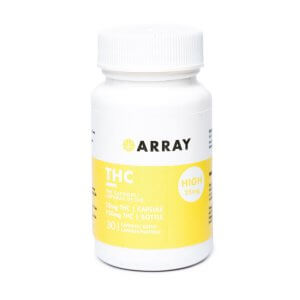Array 25mg THC Caps are great for moderate aches, pain, and relaxation