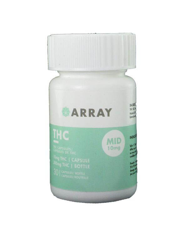 Array 10mg THC Caps are great for mild aches, pain, and relaxation