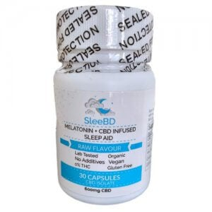 SleeBD sleep promoting Capsules with CBD, Melatonin and Valerian Root