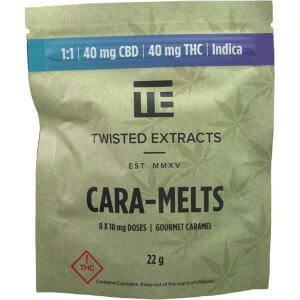 Twisted Extracts THC + CBD Cara-Melts