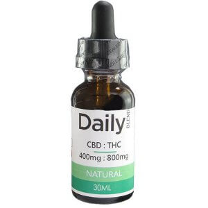 Zen Daily Blend CBD 400mg - THC 800mg Co2 Oil Natural