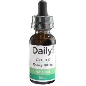 Zen Daily Blend CBD 400mg - THC 800mg Co2 Oil Natural