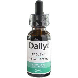 Zen Daily Blend CBD 800 mg - THC 200 mg in 30ml Co2 Oil
