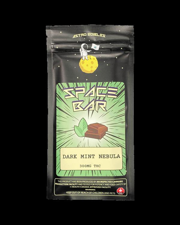 Dark Mint Nebula THC infused chocolate bar